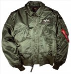 Alpha Industries CWU-45 Pilotenjacke sage-green