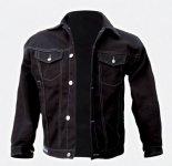 ". Jeans Jacke schwarz ""Bomber"" Capricorn Rockwear"