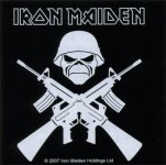 Aufkleber Iron Maiden Crossed Guns