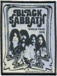 kleiner Aufnäher Black Sabbath Poster