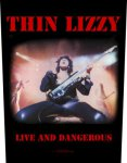 Rückenaufnäher Thin Lizzy Live and Dangerous