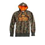 Alpha Industries Foam Print Hoody woodland Camo