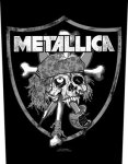 Rückenaufnäher Metallica Raiders Skull