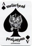 kleiner Aufnäher Motörhead Playing Card