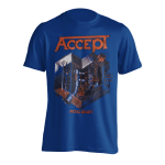 T-Shirt Accept Metal Heart ( blue )