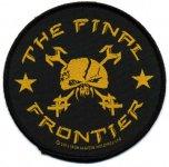kleiner Aufnäher Iron Maiden The Final Frontier rund