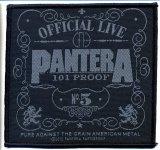 kleiner Aufnäher Pantera Official Live