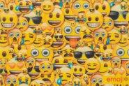 Fußmatte Emoji - Emojis allover Collage
