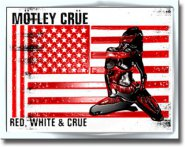 Flagge Mötley Crüe Red, White and Crüe