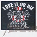 kleiner Aufnäher Avenged Sevenfold Love it or Die