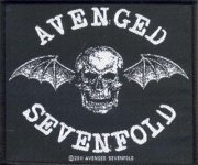 kleiner Aufnäher Avenged Sevenfold Classic Bat Logo