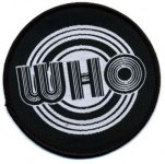 kleiner Aufnäher The Who black / white Logo