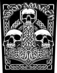 Rückenaufnäher Amon Amarth Three Skulls