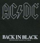kleiner Aufnäher AC/DC Back in Black