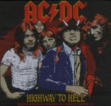 kleiner Aufnäher AC/DC Highway to Hell UK