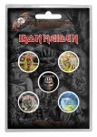 Button Set Iron Maiden Classic Album Cover