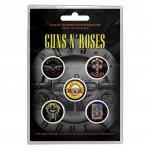 Button Set Guns'n Roses Classic Logos