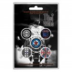 Button Set The Who Classic Logos