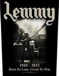 Rückenaufnäher Motörhead Lemmy 1945-2015