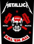 Rückenaufnäher Metallica Militia