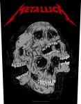 Rückenaufnäher Metallica Skulls