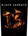 Rückenaufnäher Black Sabbath 13 ( Flames )