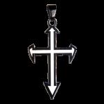Edelstahlanhänger Pike Cross