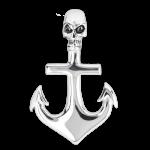 Edelstahlanhänger Anchor with Skull