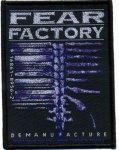 kleiner Aufnäher Fear Factory Demanufacture