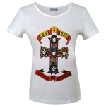 Girlie Shirt Guns'n Roses Appetite for Destruction ( white )