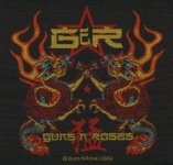 kleiner Aufnäher Guns 'n' Roses China Dragon