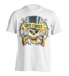 T-Shirt Guns'n Roses Distressed Top Hat