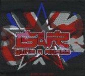 kleiner Aufnäher Guns 'n' Roses England Flag