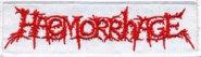 kleiner Aufnäher HAEMORRHAGE Red Logo