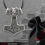 Kette Thors Hammer with Iron Cross ( Edelstahl )
