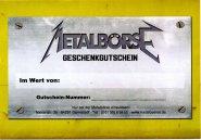 Metalbörse Gutschein 100 Euro