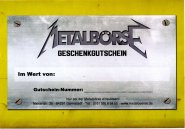 Metalbörse Gutschein 15 Euro