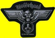 kleiner Aufnäher Motörhead Hammered Shape Logo