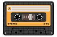 Mousepad Musikkassette Gelb