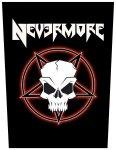 Rückenaufnäher Nevermore Skull Pentagram