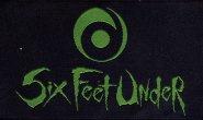 kleiner Aufnäher Six Feet Under Logo