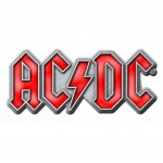 Pin AC/DC Red Logo
