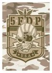 Flagge Five Finger Death Punch Camoflage