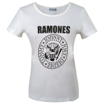 Girlie Shirt Ramones Presidential Seal ( white )