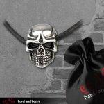 Edelstahlanhänger Steel Skull