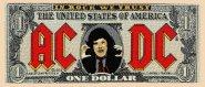 kleiner Aufnäher AC/DC Red Dollar Logo