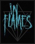kleiner Aufnäher In Flames Scratched Logo