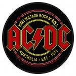 kleiner Aufnäher AC/DC Australia Est. 1973 ( rund )