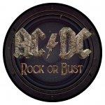 kleiner Aufnäher AC/DC Rock or Bust ( rund )