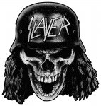 kleiner Aufnäher Slayer Wehrmacht Skull